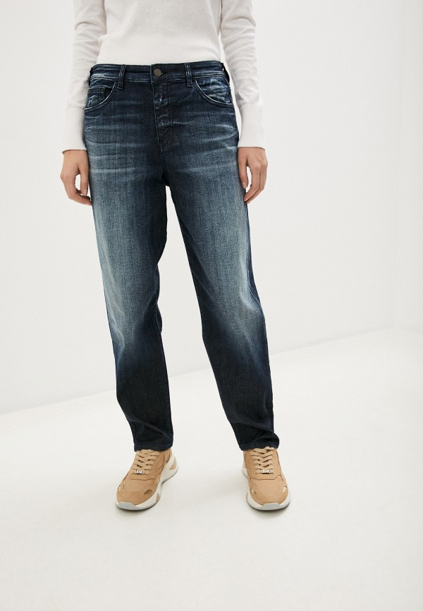 женские прямые джинсы emporio armani, синие
