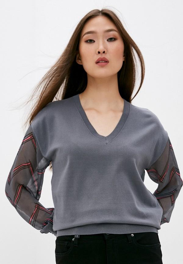 женский пуловер emporio armani, серый