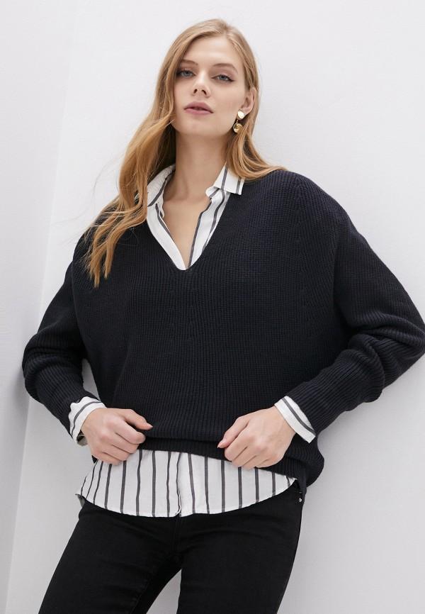 женский пуловер emporio armani, синий