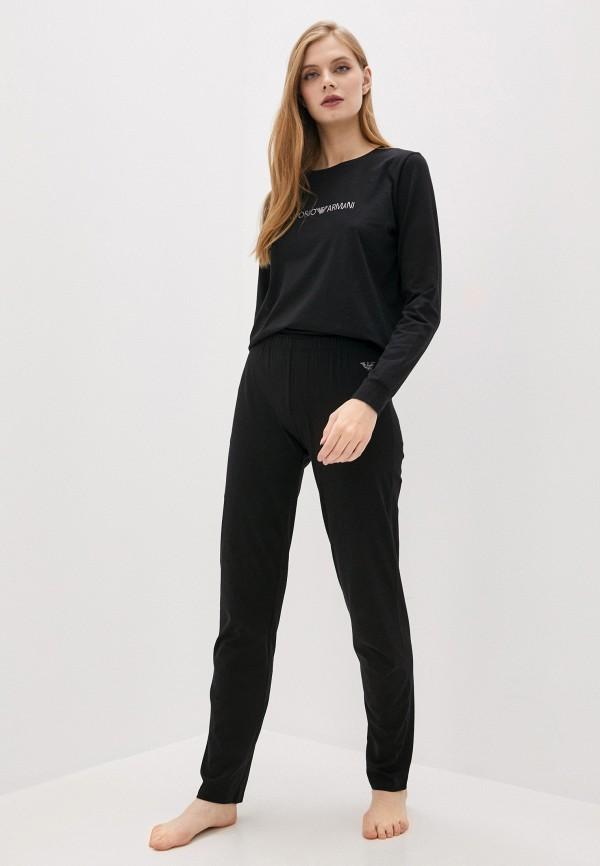 женская пижама emporio armani, черная