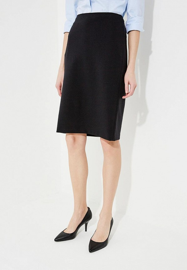 женская прямые юбка emporio armani, черная