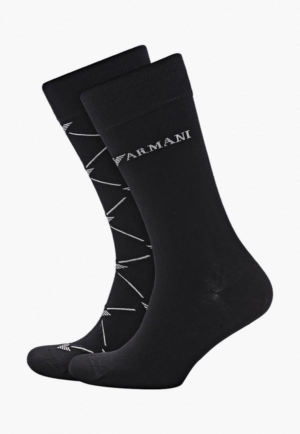 мужские носки emporio armani, черные