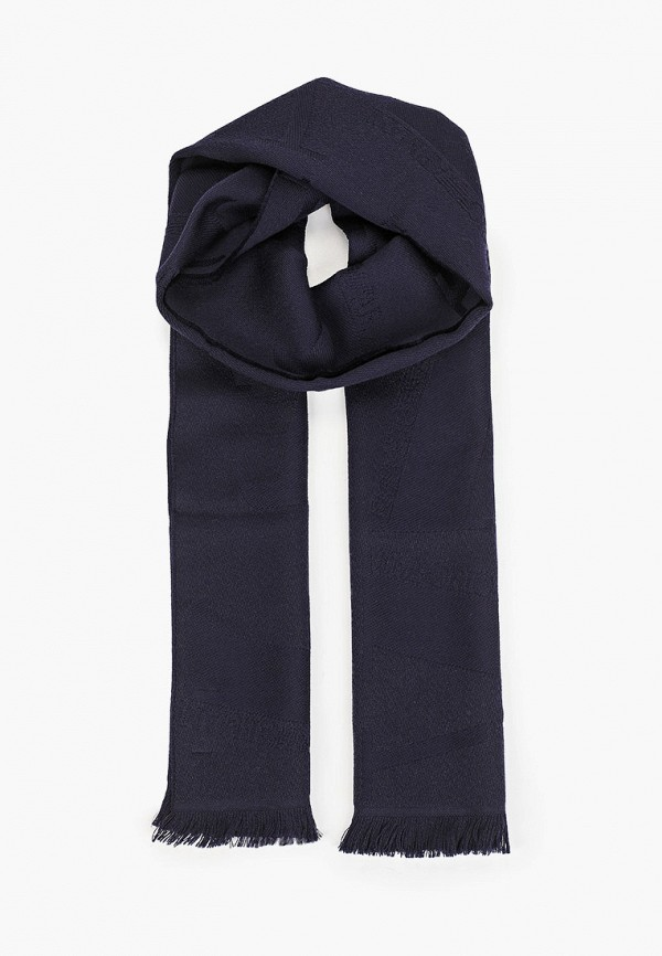 мужской шарф emporio armani, синий