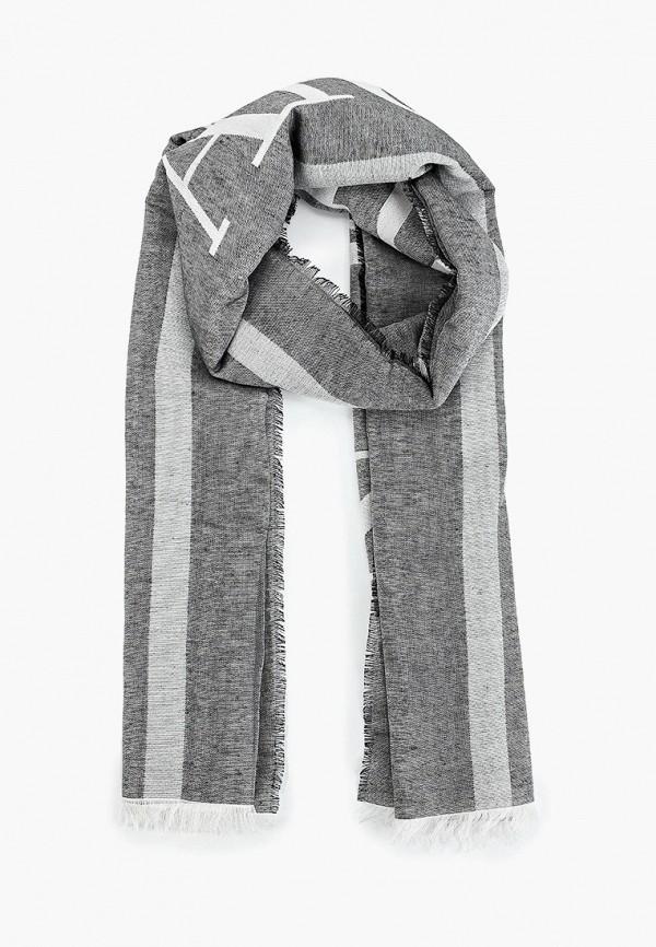 Фото - женский палантин Emporio Armani серого цвета