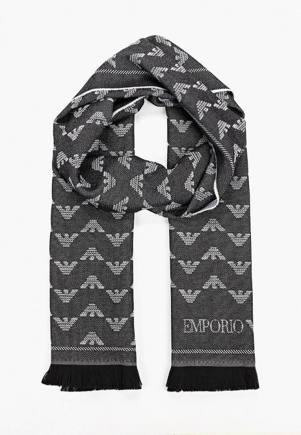 женский шарф emporio armani, черный