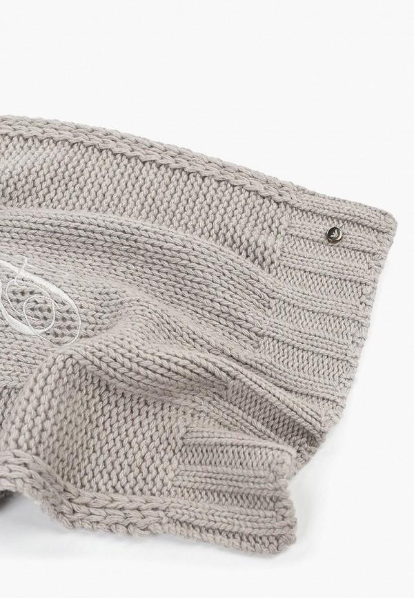 Фото 2 - женский шарф Emporio Armani серого цвета