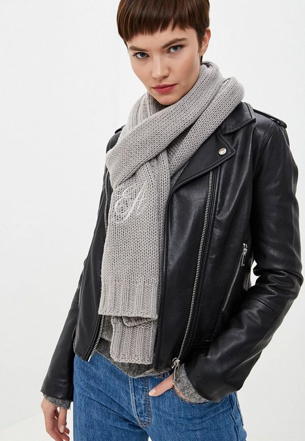 Фото 3 - женский шарф Emporio Armani серого цвета