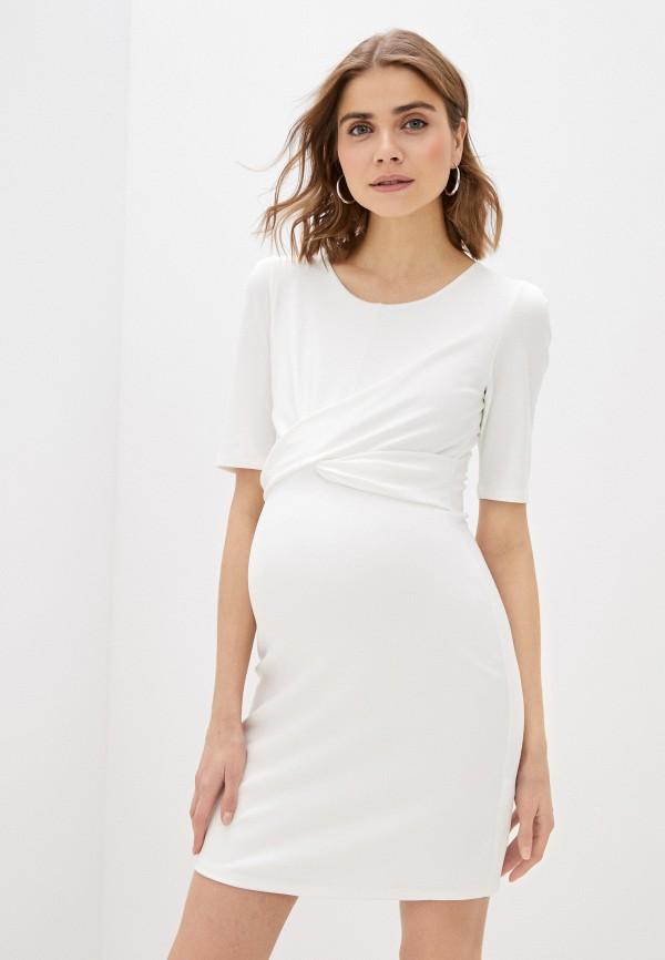 женское платье-футляр envie de fraise, белое