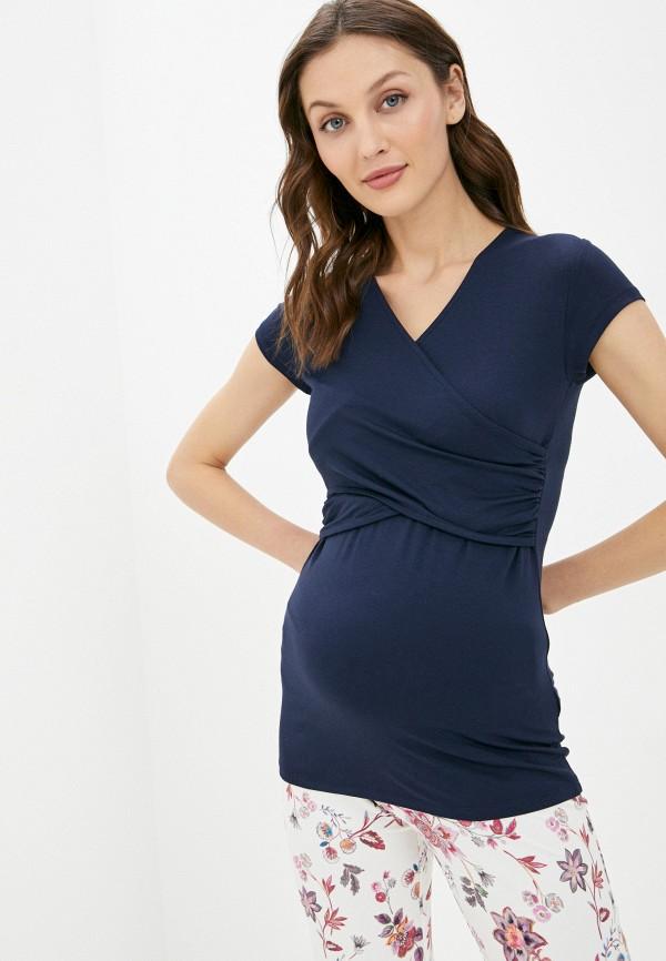 женская футболка envie de fraise, синяя