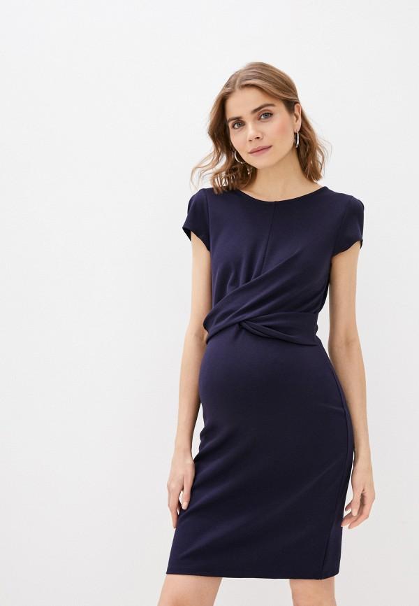 женское платье-футляр envie de fraise, синее