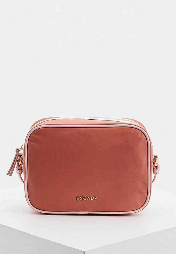 женская сумка escada, розовая
