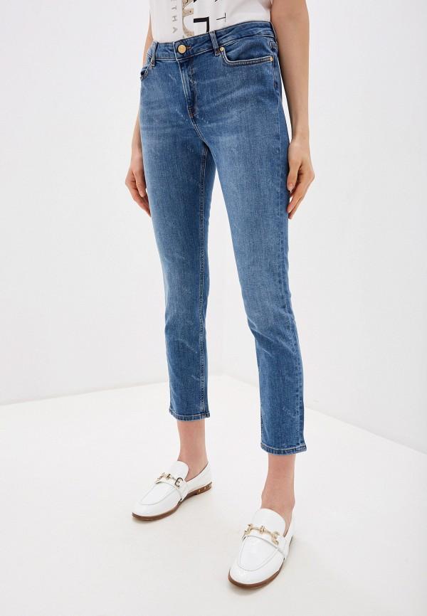 женские джинсы скинни escada, голубые