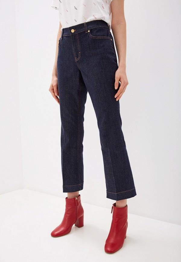 женские джинсы клеш escada, синие