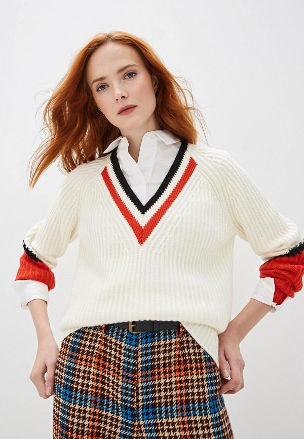 женский пуловер escada, белый