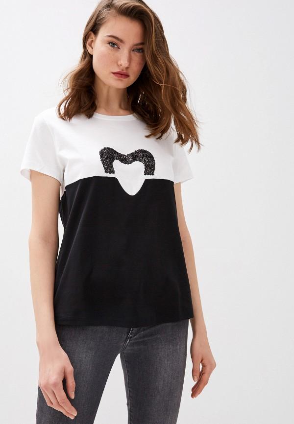 женская футболка escada, черная