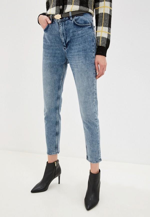 женские брюки скинни escada, синие