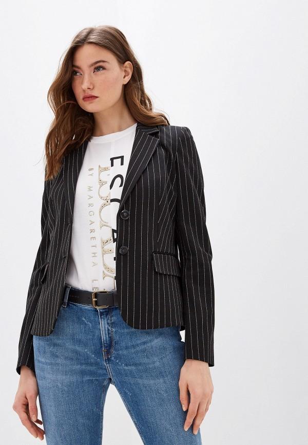 женский пиджак escada, черный