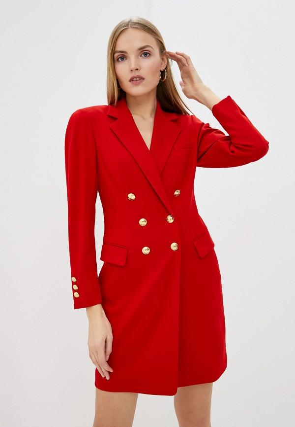 женское платье escada, красное