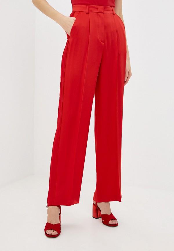 женские классические брюки escada, красные