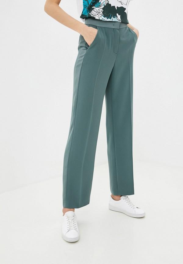 женские классические брюки escada, зеленые