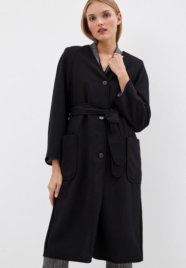 женское пальто escada, черное