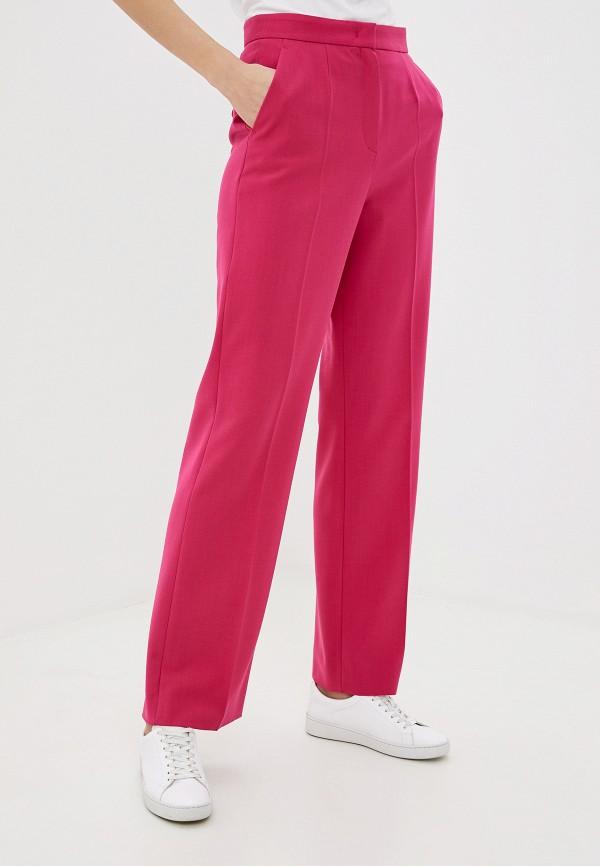 женские классические брюки escada, розовые