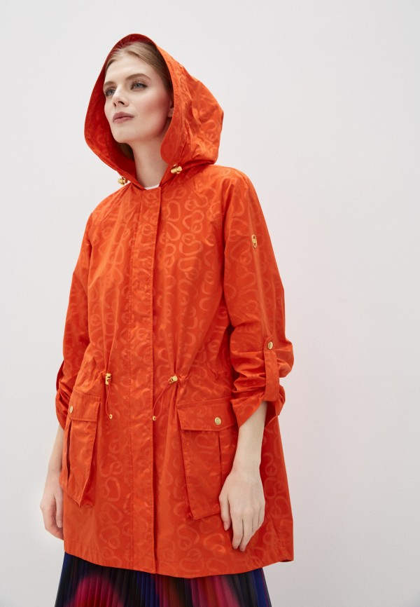женская парка escada, оранжевая