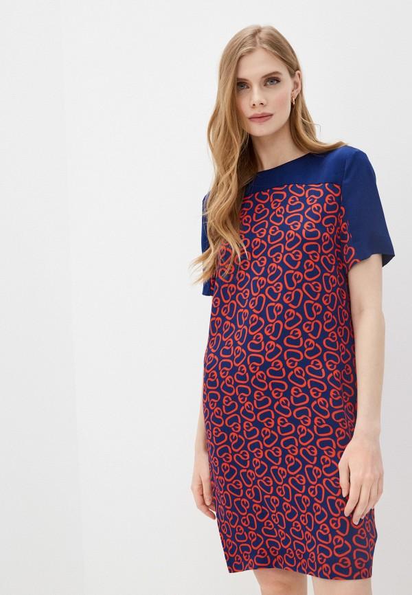 женское повседневные платье escada, синее