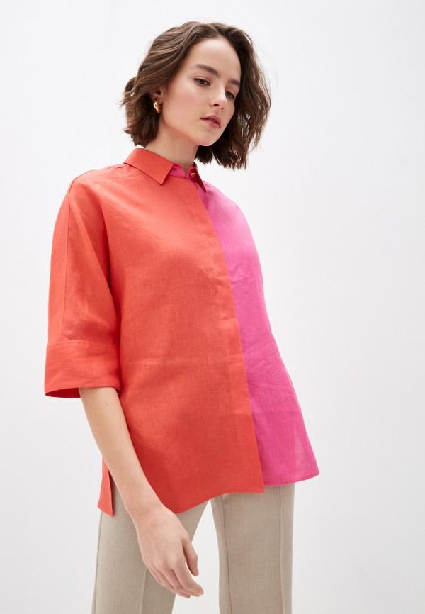 женская рубашка с длинным рукавом escada, разноцветная
