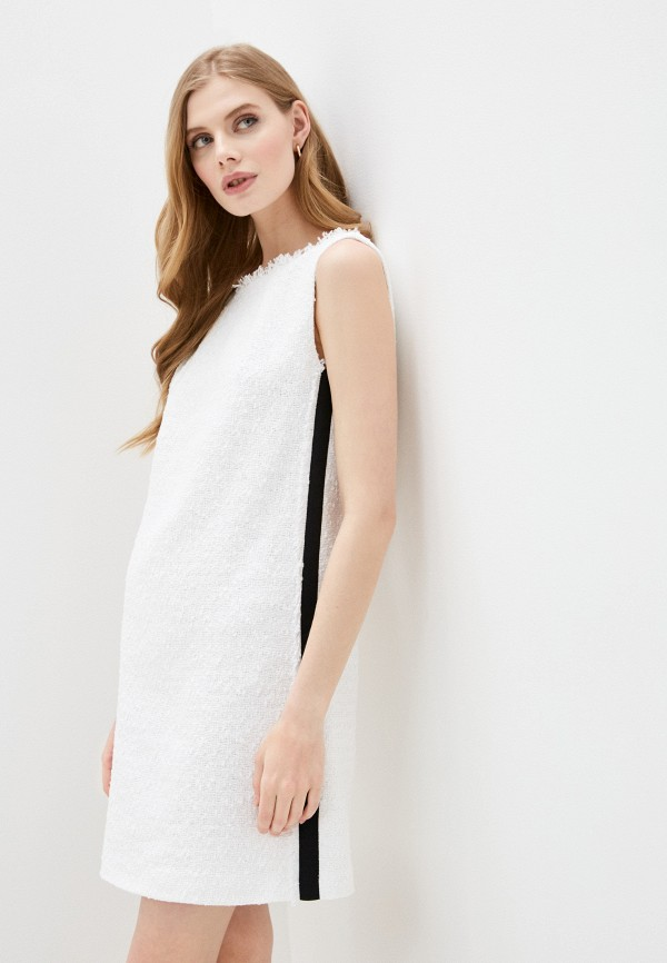 женское повседневные платье escada, белое