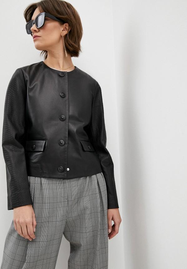 женская куртка escada, черная