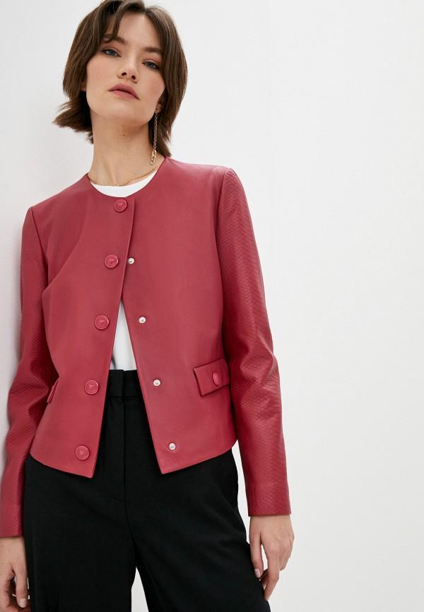 женская куртка escada, красная