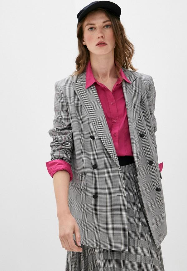 женский пиджак escada, серый