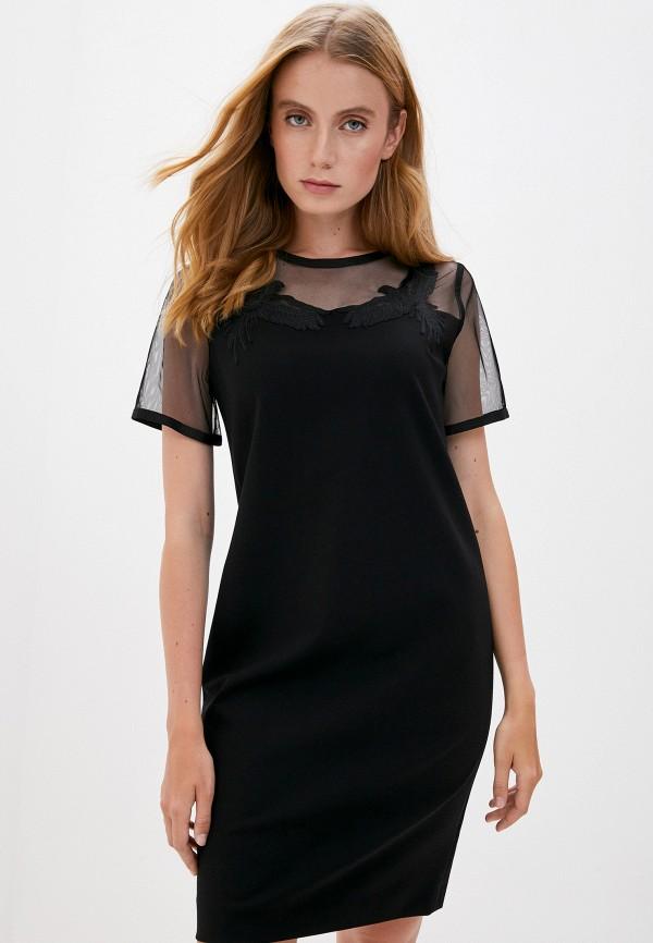 женское платье escada, черное