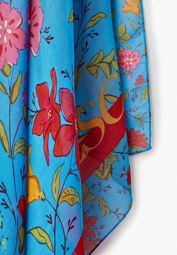 Фото 5 - женский платок Escada Sport синего цвета