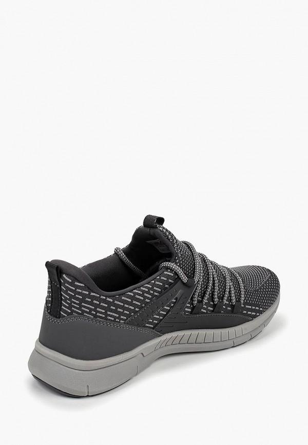 Фото 3 - мужские кроссовки Escan серого цвета
