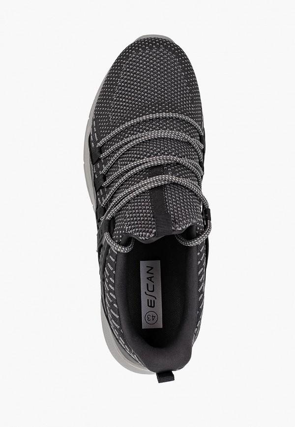 Фото 4 - мужские кроссовки Escan серого цвета