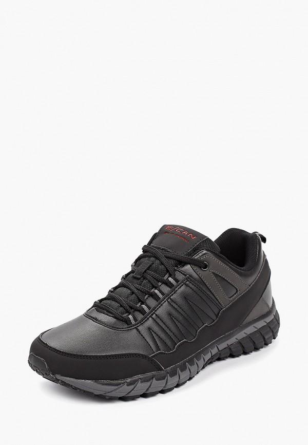 Фото 2 - Мужские кроссовки Escan черного цвета