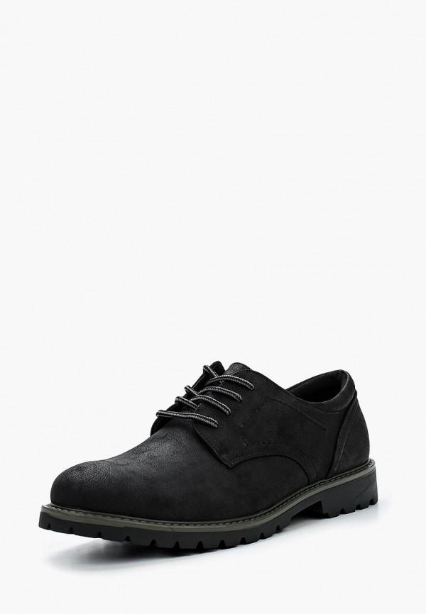 мужские туфли escan, черные
