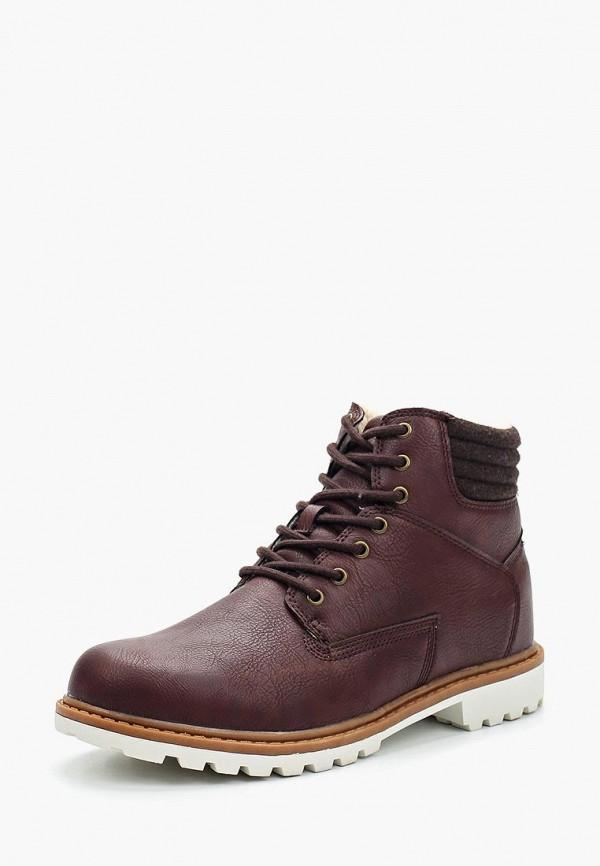 мужские ботинки escan, бордовые