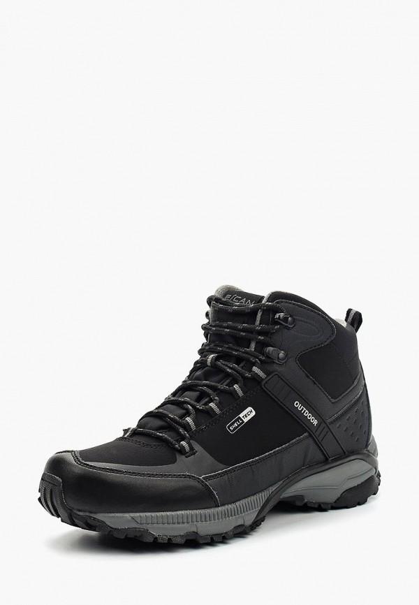 мужские высокие ботинки escan, черные