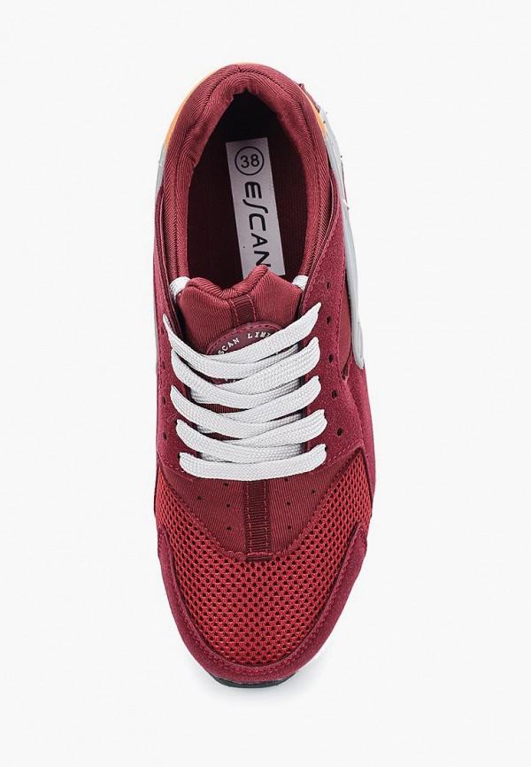 Фото 4 - женские кроссовки Escan бордового цвета