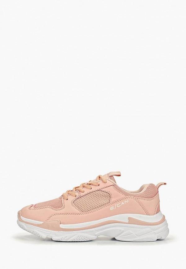 женские кроссовки escan, розовые