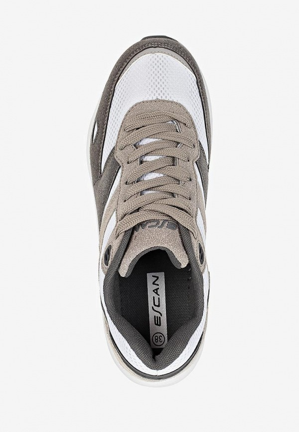 Фото 4 - женские кроссовки Escan серого цвета