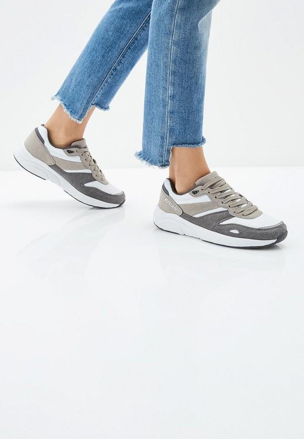 Фото 6 - женские кроссовки Escan серого цвета