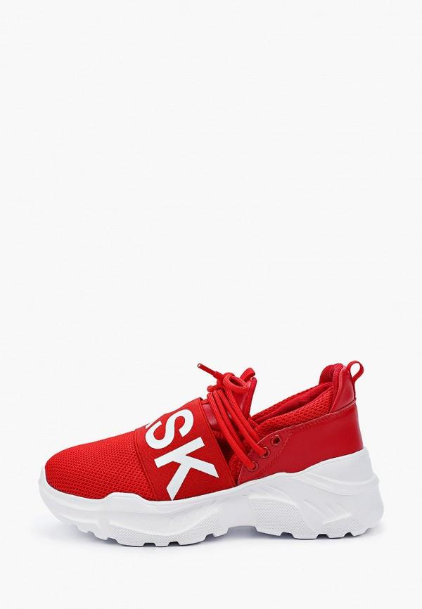 женские кроссовки escan, красные