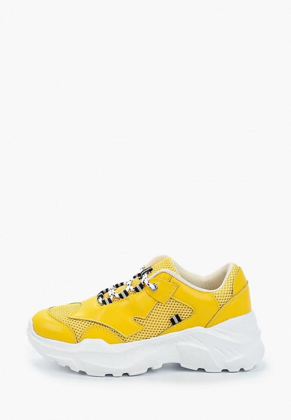 женские кроссовки escan, желтые