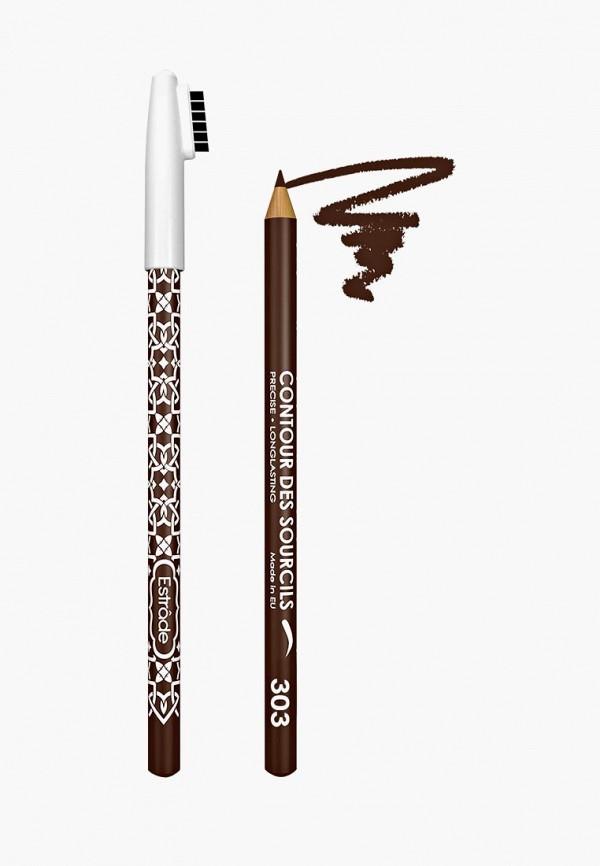 карандаш для бровей estrade, коричневый