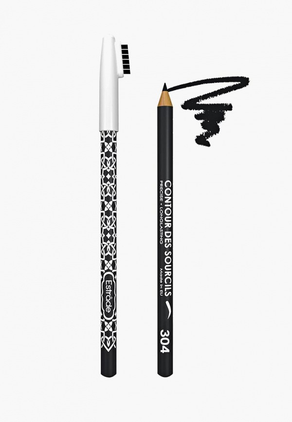 карандаш для бровей estrade, черный