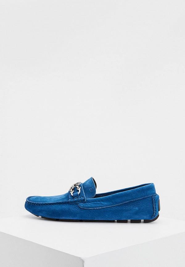 мужские мокасины etro, синие